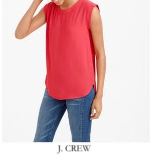 J. Crew Red Holiday Draping Top   Size XS